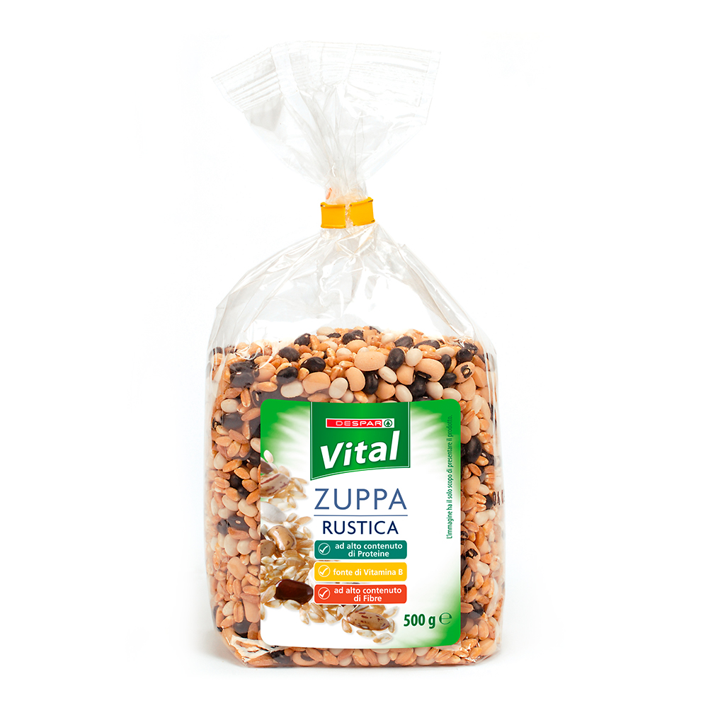 Zupa rustica linea prodotti a marchio Despar Vital