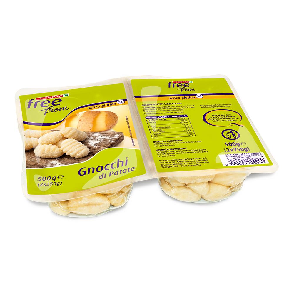 Gnocchi di patate senza glutine linea prodotti a marchio Despar Free From