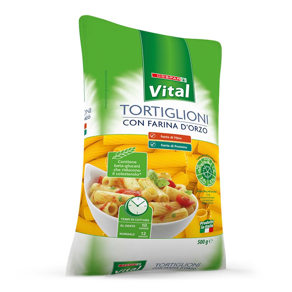 Tortiglioni con farina d'orzo 500 g linea prodotti a marchio Despar Vital