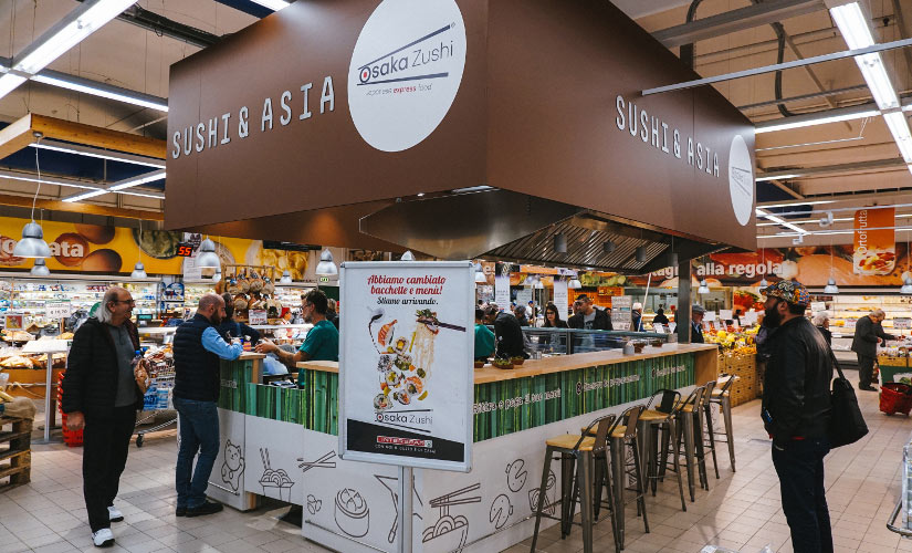 Nuovo corner sushi Interspar di Ragusa